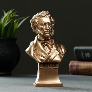 Бюст Пушкина №3 бронза, 4,5х7х14,5см   5215910