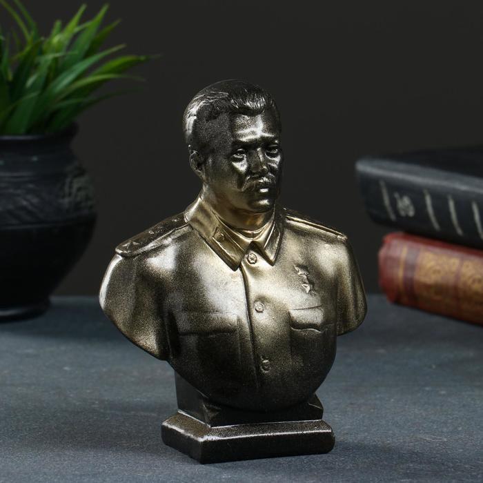 Бюст Сталина, бронза 16см 5231604