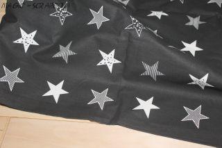 """ткань """"Черные звезды"""""""
