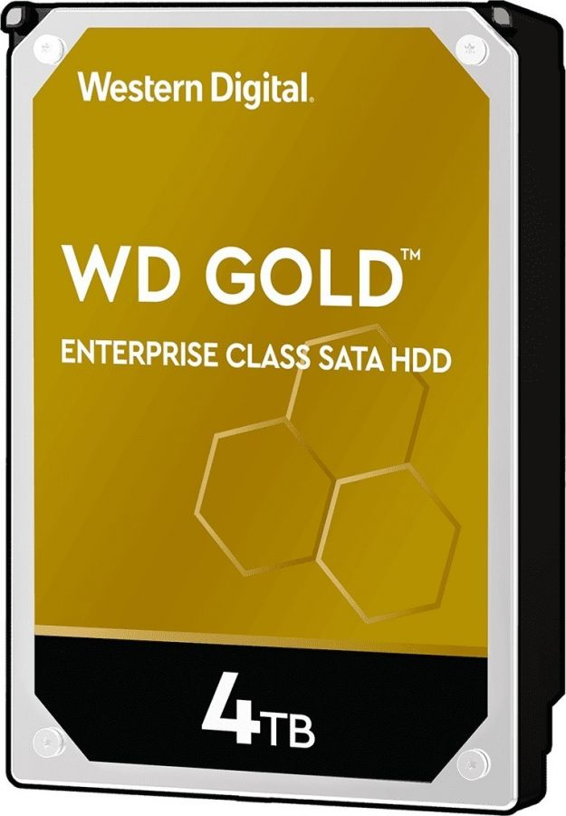 Накопитель HDD SATA 4.0TB WD Gold 7200rpm 256MB (WD4003FRYZ)