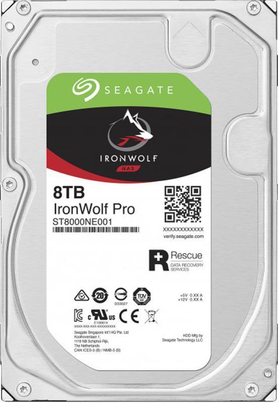 Накопитель HDD SATA 8.0TB Seagate IronWolf Pro NAS 7200rpm 256MB (ST8000NE001)