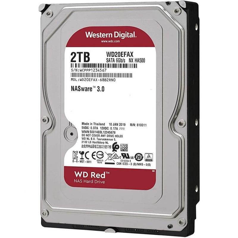 Накопитель HDD SATA 2.0TB WD Red NAS 5400rpm 256MB (WD20EFAX)
