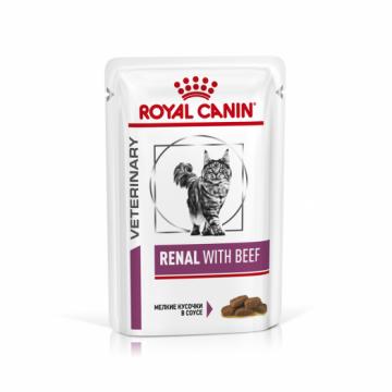 Роял канин Ренал говядина в соусе для кошек (Renal Beef) пауч 85г.