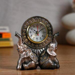 """Часы настольные """"Слоны"""" d=5.5 см, 1 АА, дискретный ход   5060055"""