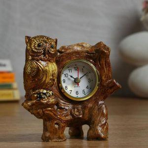 "Часы настольные ""Сова на ветке"" d=5.5 см, 1 АА, дискретный ход   5060058"