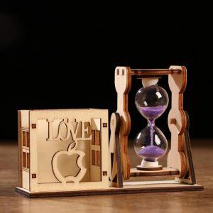 """Часы песочные """"LOVE"""" с карандашницей, 9х13 см, микс 1717915"""