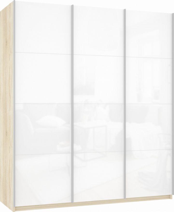 Шкаф-купе трехдверный (3 двери Белое стекло) | E1 Прайм
