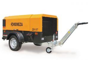 Передвижной компрессор с дизельным двигателем DEUTZ Remeza ДК-5/7Д