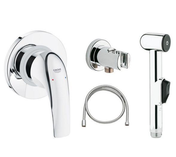 Гигиенический душ GROHE BauCurve 123072 со смесителем ФОТО
