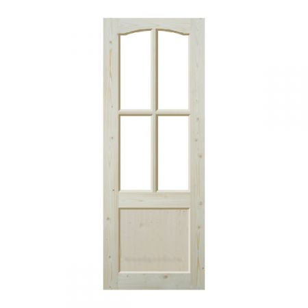 Дверь из массива сосны неокрашенная; филёнчатая ДОФ-ПА
