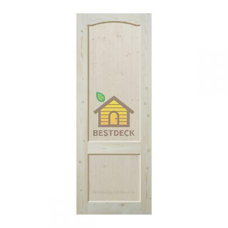 Двери из массива сосны неокрашенная; филёнчатая ДГФ-ПА