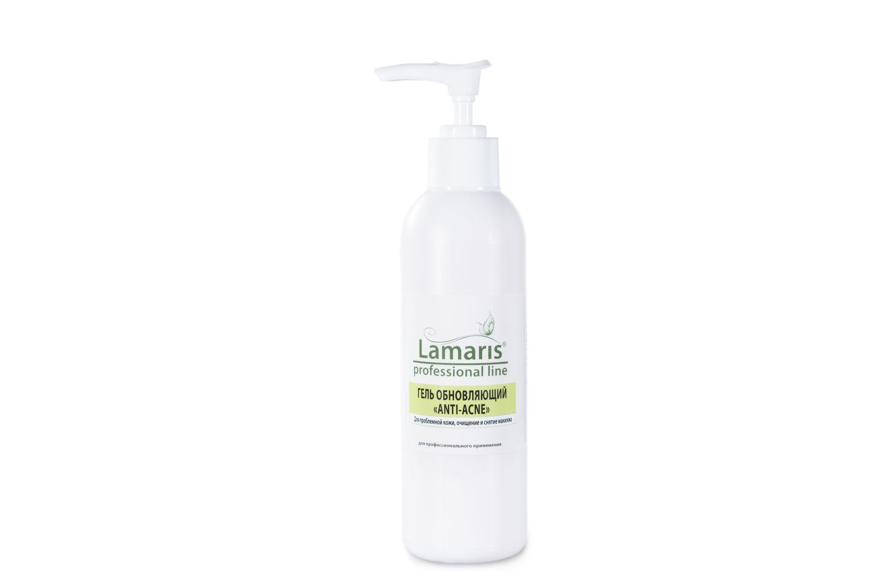 Очищающий гель с маслом чайного дерева ANTI-ACNE Lamaris для проблемной кожи лица - 200, 500 мл
