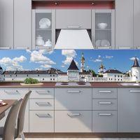 Наклейка на фартук кухни - Белый кремль | интерьерные наклейки