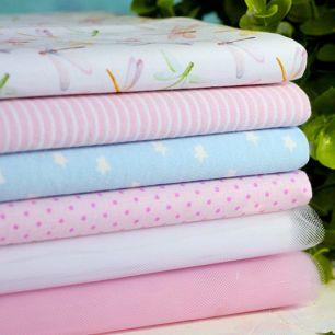 Набор тканей для пошива Розовые стрекозы