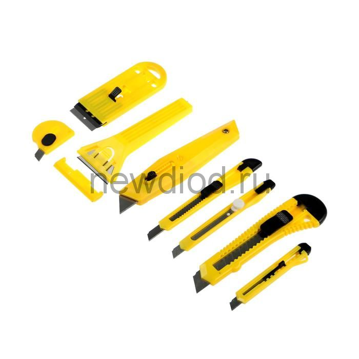 Набор ножей и скребков TUNDRA, универсальный, 8 предметов