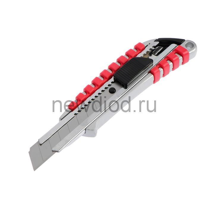 Нож универсальный TUNDRA, прорезиненный металлический корпус, 18 мм