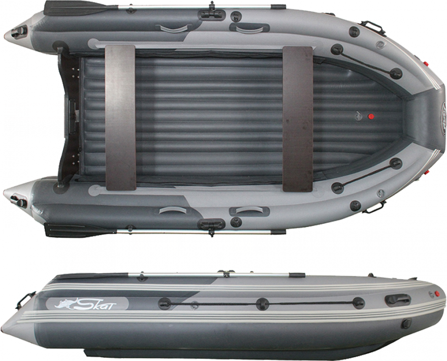 """Лодка ПВХ """"SKAT-Тритон-370НД"""" с Интегрированным фальшбортом(Скат 370NDFi)"""