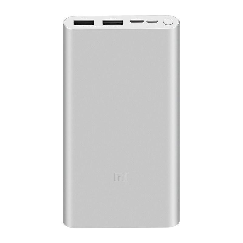 Аккумулятор Xiaomi Mi Power Bank 3 10000 Type-c + 2USB  PLM13ZM white