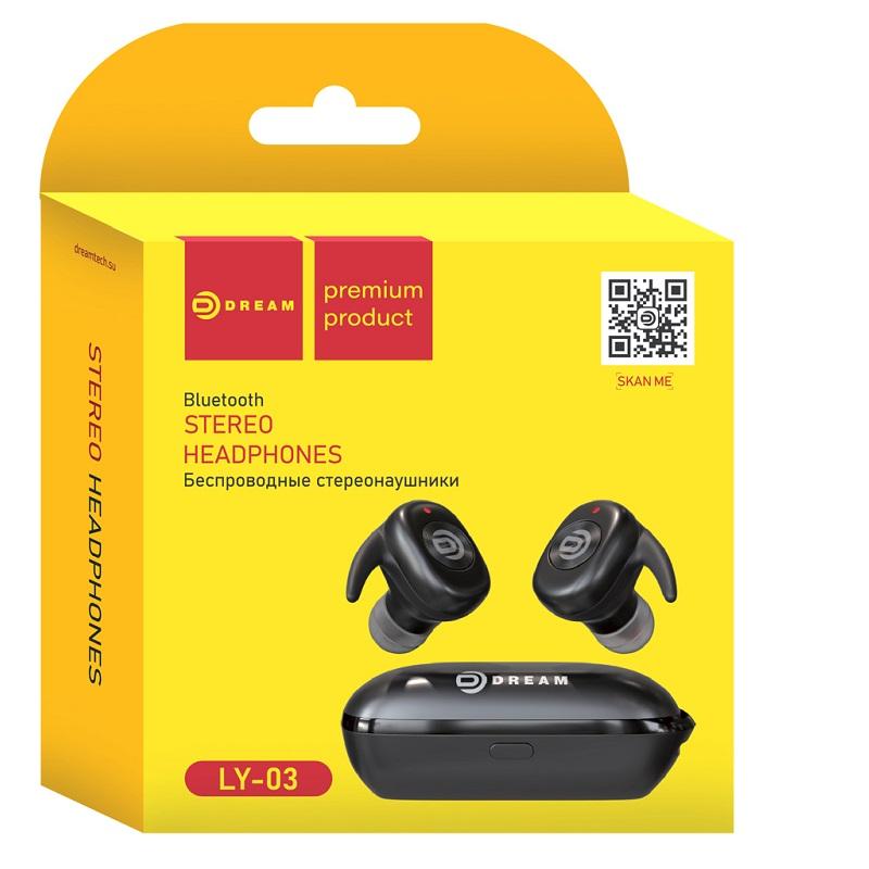 Гарнитура Bluetooth LY03 (заушины, кнопки управления, бокс ЗУ)