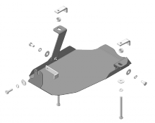 Защита заднего дифференциала, Motodor, сталь 2мм