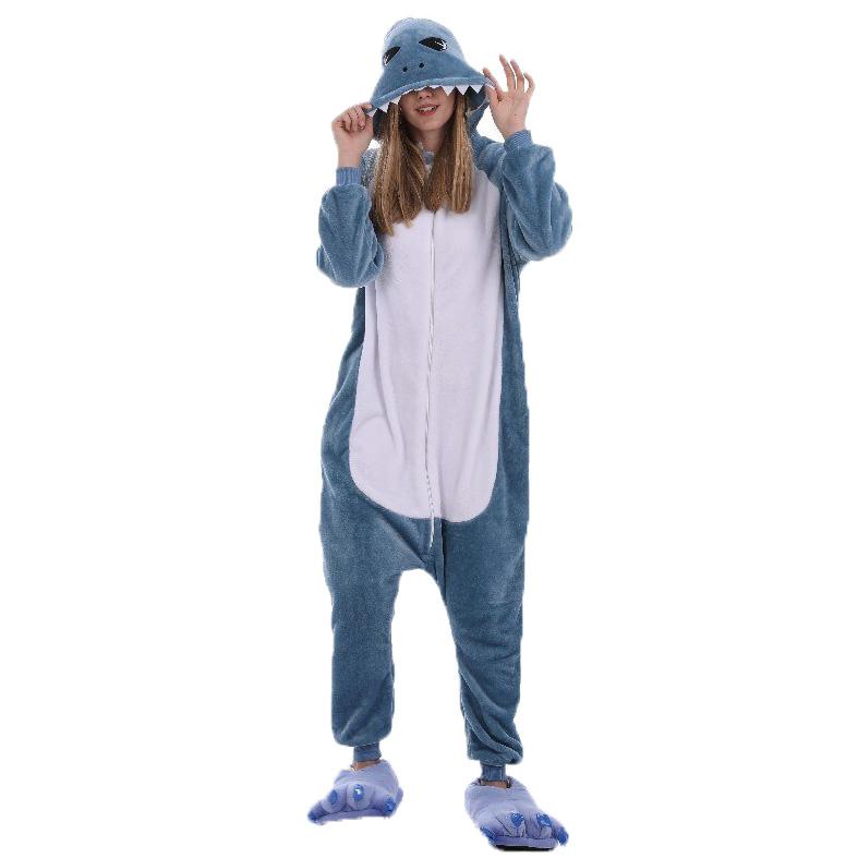Пижама Кигуруми Серая Акула