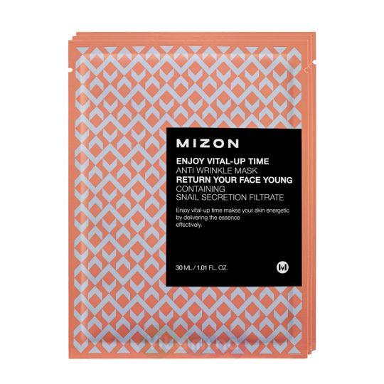 Mizon Маска листовая для лица антивозрастная Enjoy Vital Up Time Anti Wrinkle Mask, 30 мл