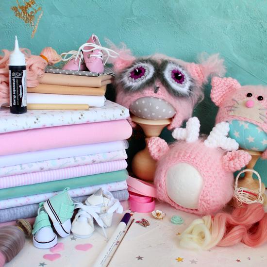 Большой стартовый набор материалов для творчества Розовые облака