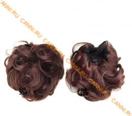 """Искусственные термостойкие волосы - Шиньон """"Пучок"""" #033, вес 60 гр"""