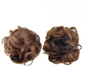 """Искусственные термостойкие волосы - Шиньон """"Пучок"""" #M04/30, вес 60 гр"""