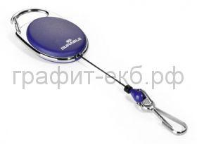 Зажим-рулетка для бейджа Style овальная синяя Durable 8327-07