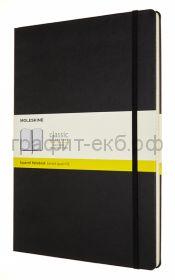 Книжка зап.Moleskine А4 Classic клетка черная QP111