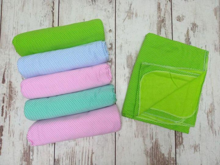 Пеленки для новорожденных теплые C-PE600-ITn /95х110/ горошек