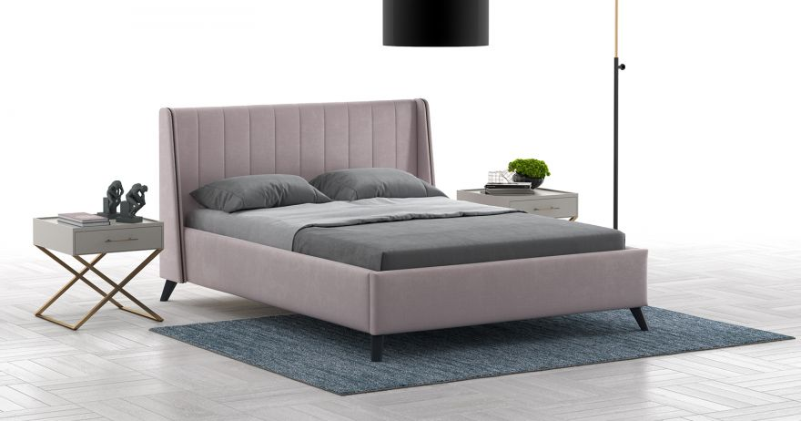 Кровать Мелисса (арт. Тори 45 велюр (ява))| Моби