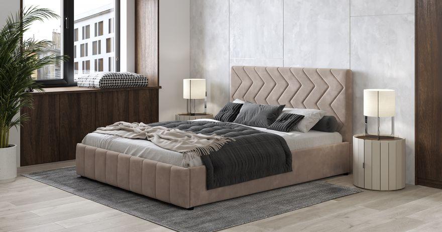 Кровать Милана (арт. Лекко Десерт (карамельный тауп))| Моби