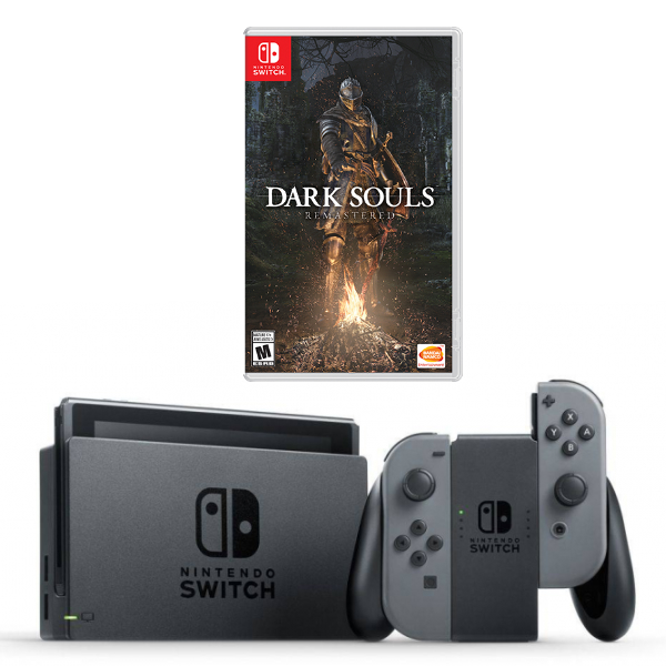 Игровая приставка Nintendo Switch (Grey) + Игра Dark Souls : Remastered (Nintendo Switch)