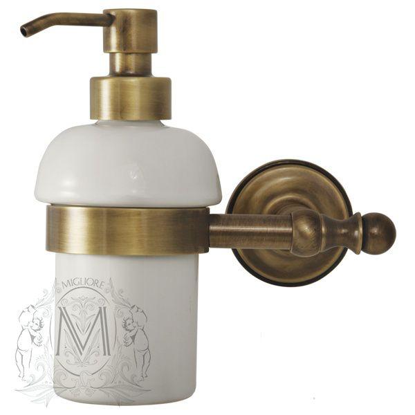 Металлический дозатор жидкого мыла Migliore Mirella ML.MRL-M068.BR 19х16 ФОТО