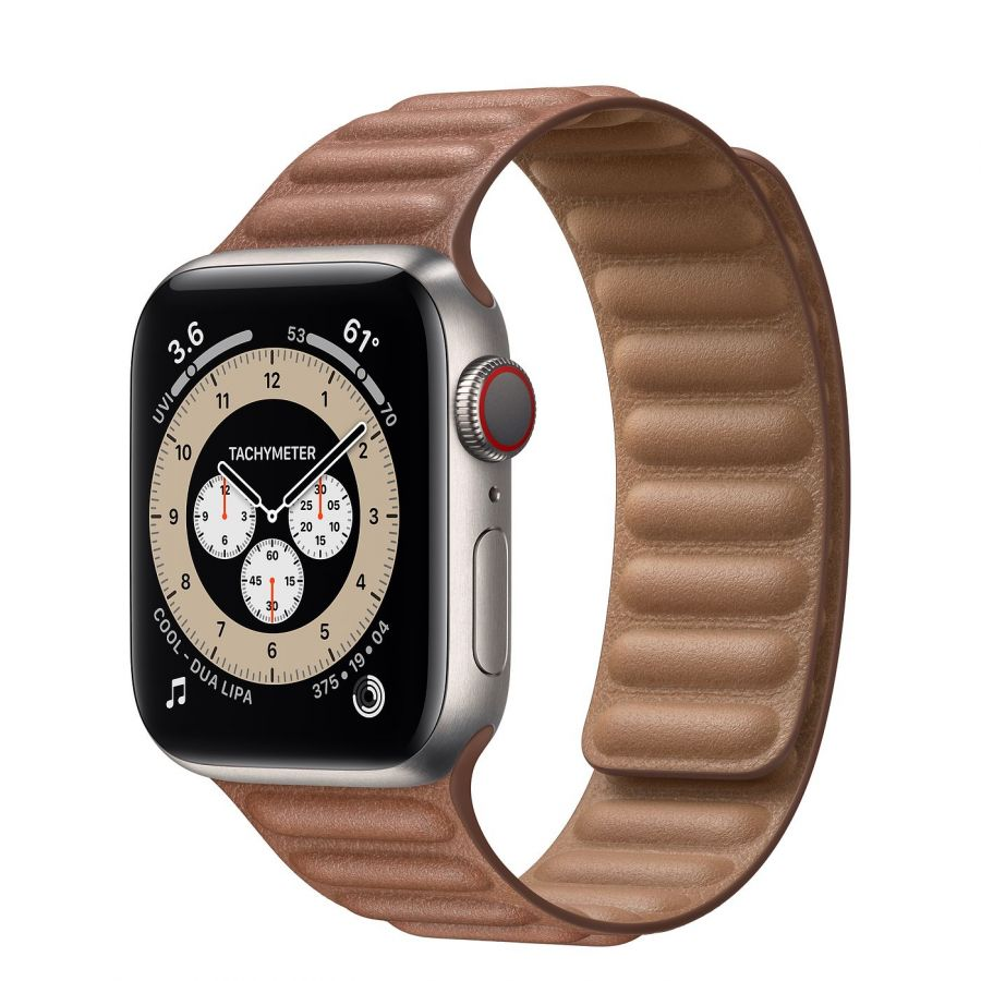 Часы Apple Watch Edition Series 6 GPS + Cellular 40mm Titanium Case with Leather Link Saddle Brown Leather Link