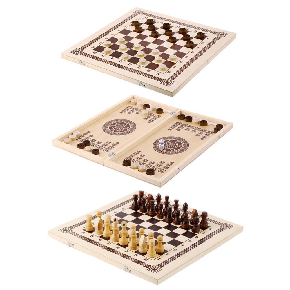 Шахматы, шашки,нарды 3 в 1 арт.ШК-1 (400*210) /12