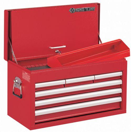 Ящик инструментальный, 6 ящиков и отсек, красный KING TONY 87411-6B