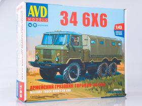 Сборная модель Армейский грузовик 34 6x6