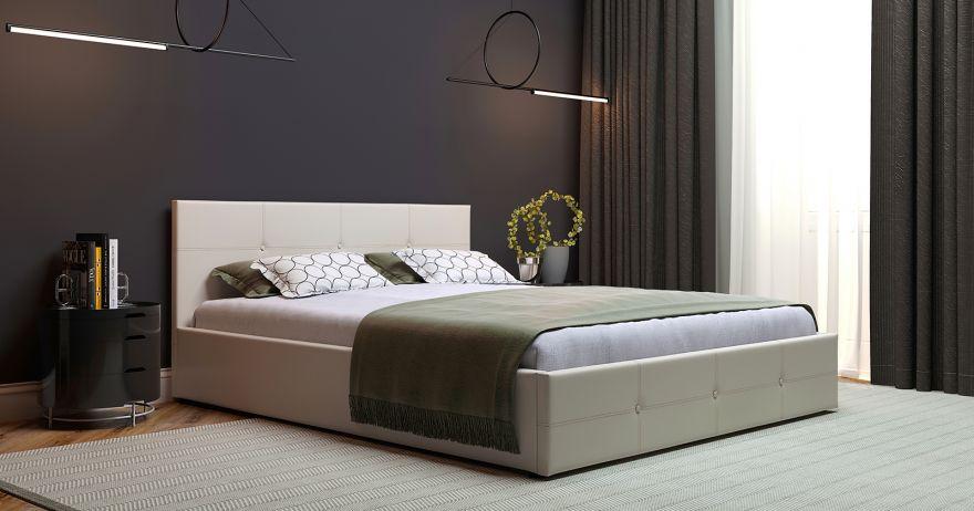Кровать Синди (арт. Марика 483 к/з (белый)) | Моби