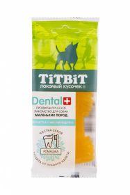 Тит Бит ДЕНТАЛ+ Зубочистка с мясом индейки для собак маленьких пород