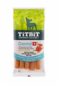 Тит Бит ДЕНТАЛ+ Трубочка с мясом индейки для собак мини-пород