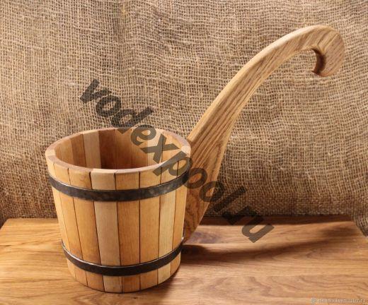 Ковш-черпак из дерева