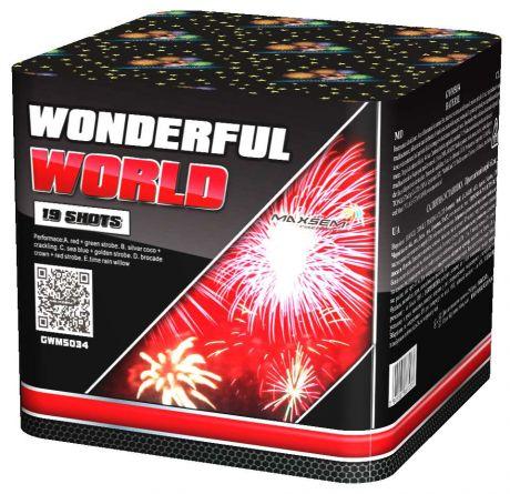 """Батареи салютов """" WONDERFUL WORLD"""" 19 залпов"""