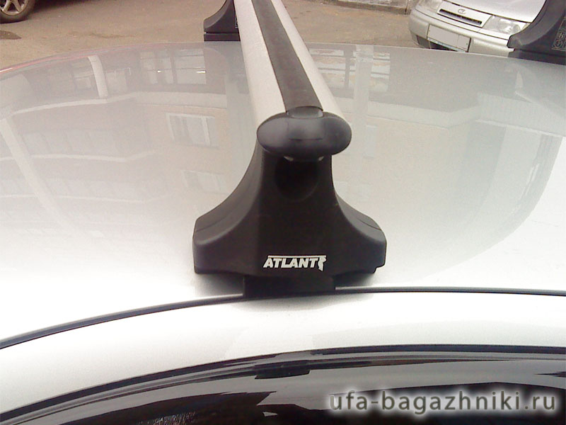 Багажник на крышу Kia Sorento 2002-09, Атлант, аэродинамические дуги