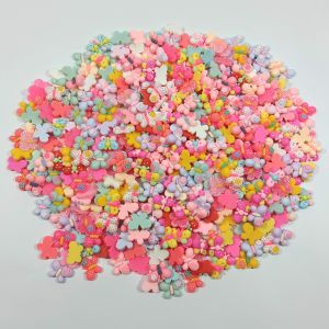 """Кабошон, пластик, микс """"Бабочки"""", размер  16-22 мм (1уп = 50шт), Арт. КБП0423"""