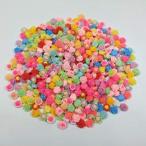 """Кабошон, пластик, микс """"Розочки"""", размер  16-22 мм (1уп = 50шт), Арт. КБП0426"""