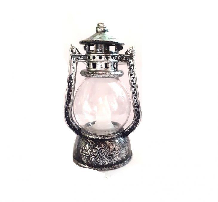 Ретро керосиновая лампа мини 12 см