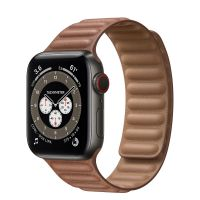 Часы Apple Watch Edition Series 6 GPS + Cellular 40mm Space Black Titanium Case with Leather Link Saddle Brown Leather Link